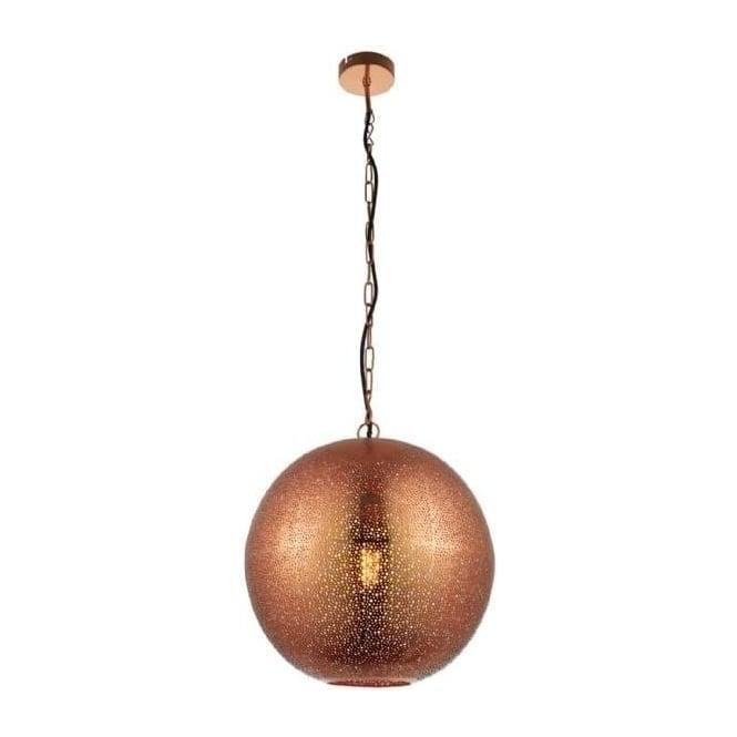 Endon 70391 Abu 1 Light Ceiling Pendant Copper