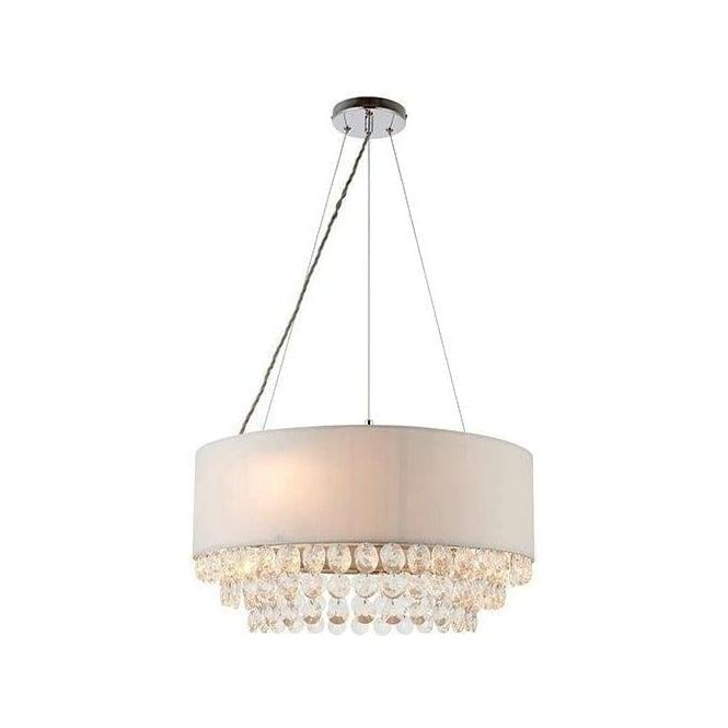 Endon 70186 Amalea 6 Light Ceiling Pendant Silver Grey