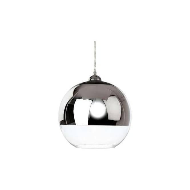 FirstLight 5908CH Club 1 Light Ceiling Pendant Chrome/Clear