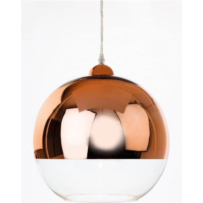 FirstLight 5908CP Club 1 Light Ceiling Pendant Copper/Clear
