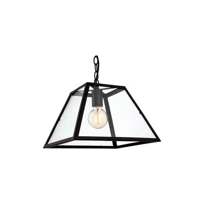 FirstLight 3439BK Kew 1 Light Ceiling Pendant Black