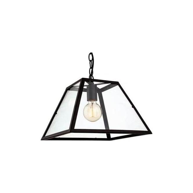 FirstLight 3439BK Kew 1 Light Ceiling Pendant Black
