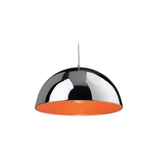 FirstLight 8622CHOR Bistro 1 Light Ceiling Pendant Chrome/Orange