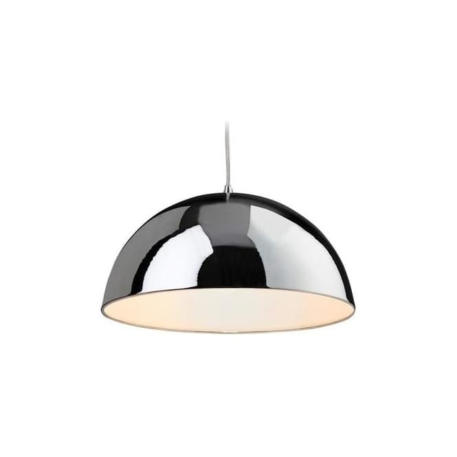 FirstLight 8622CHWH Bistro 1 Light Ceiling Pendant Chrome/White
