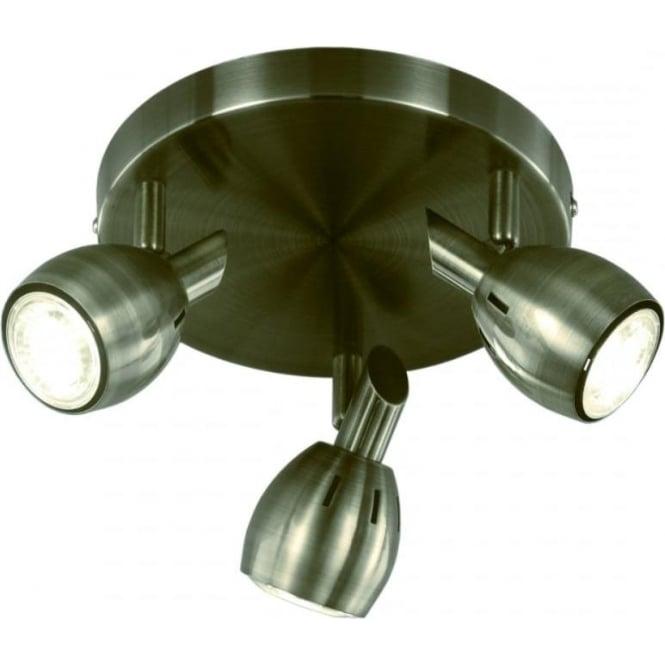 Franklite SPOT9013 Tivoli 3 Light Ceiling Light Bronze