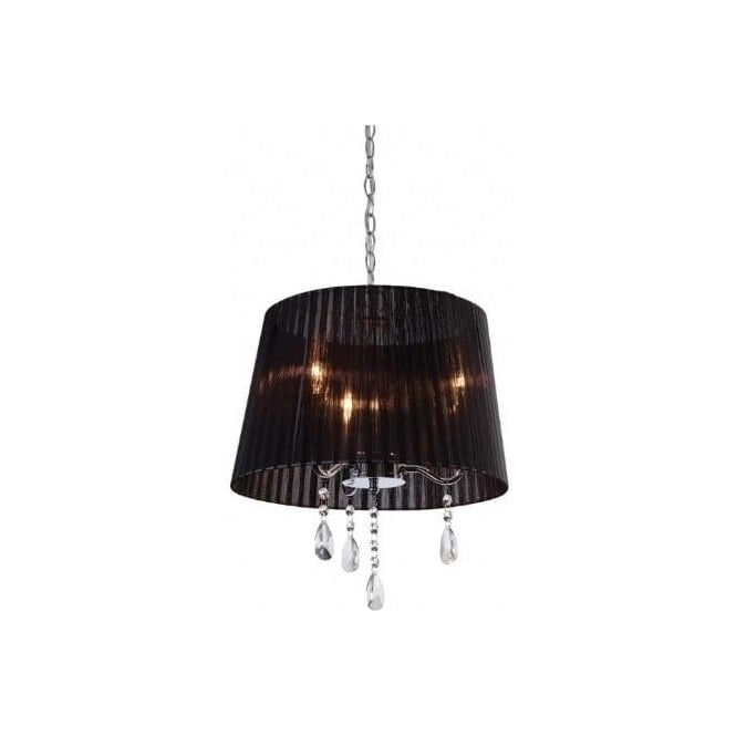 FirstLight 8308BK Organza 3 Light Pendant Polished Chrome