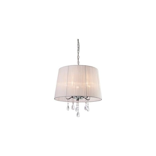 FirstLight 8309WH Organza 5 Light Pendant Polished Chrome