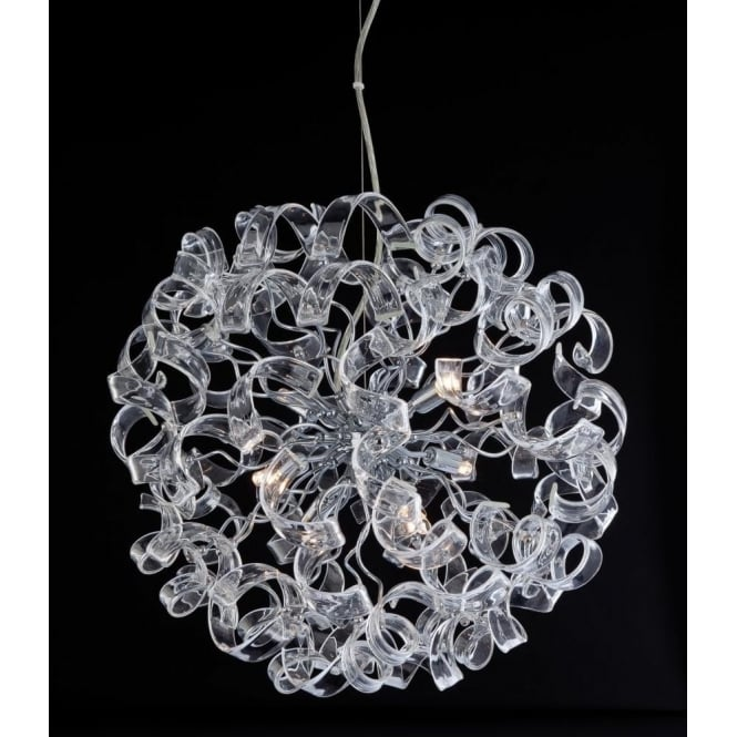 FirstLight 8121CH Cosmic 6 Light Ceiling Pendant Polished Chrome