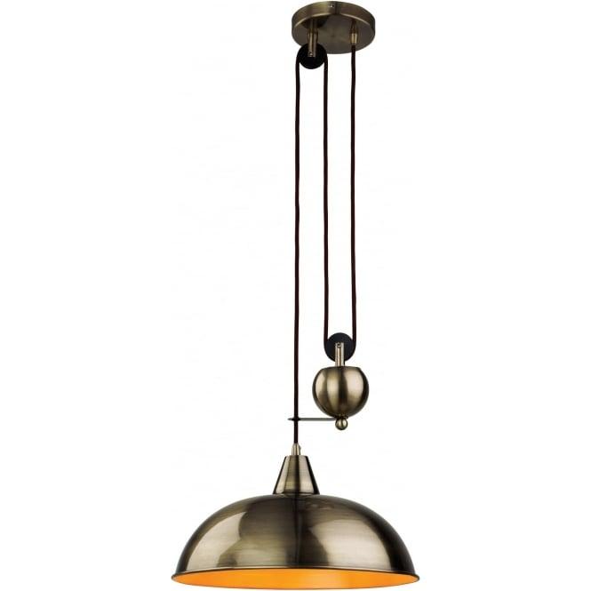 FirstLight 2309AB Century 1 Light Ceiling Pendant Antique Brass
