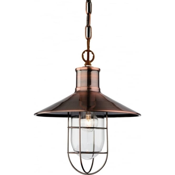 FirstLight 2306AC Crescent 1 Light Ceiling Pendant Antique Copper