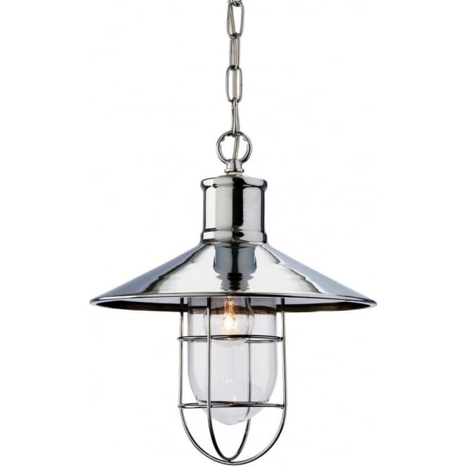 FirstLight 2306CH Crescent 1 Light Ceiling Pendant Polished Chrome