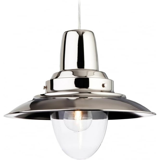 FirstLight 8645CH Fisherman 1 Light Ceiling Polished Chrome