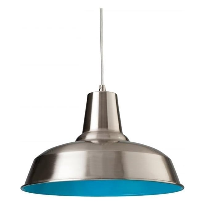 FirstLight 8623BSBL Smart 1 Light Ceiling Brushed Steel
