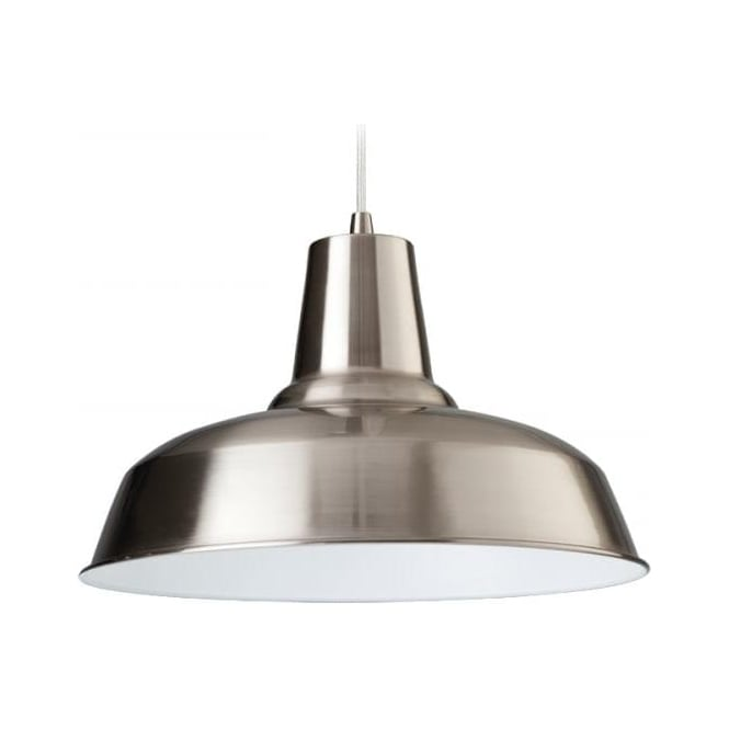 FirstLight 8623BSWH Smart 1 Light Ceiling Brushed Steel