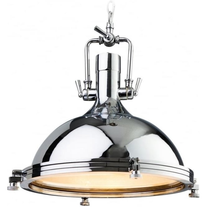 FirstLight 8626CH Bali 1 Light Pendant Polished Chrome