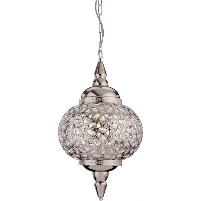 FirstLight 8648CH Taj 1 Light Pendant Polished Chrome