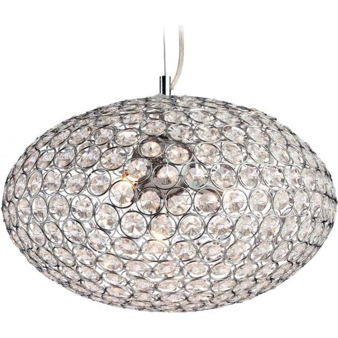 FirstLight 8625CH Oval 1 Light Pendant Polished Chrome