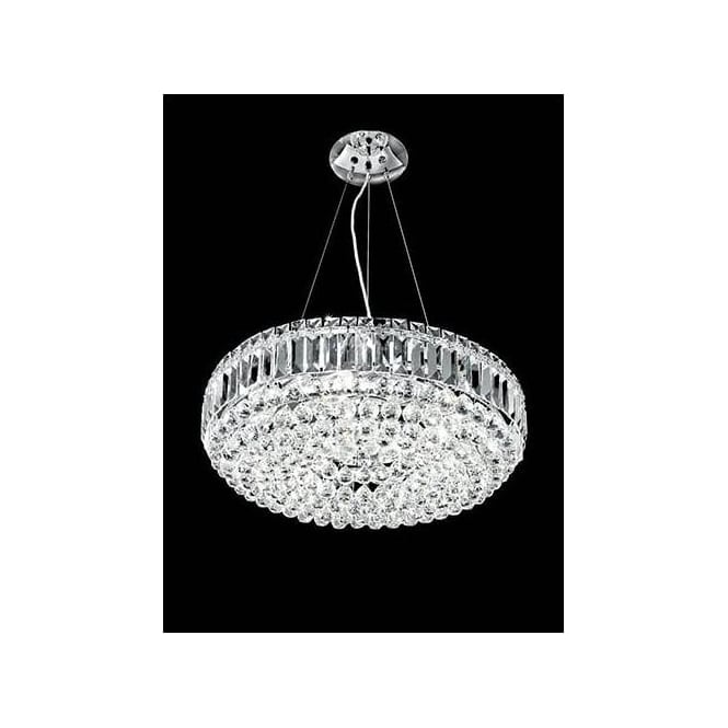 Franklite FL2020/9 Constellation 9 Light Crystal Chandelier Polished Chrome