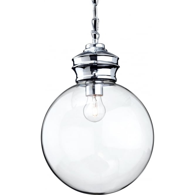 FirstLight 3410CH Omar 1 Light Pendant Chrome