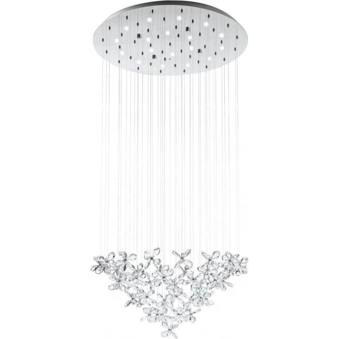 Eglo 31491 Saraceno 18 Light LED Ceiling Pendant Polished Chrome