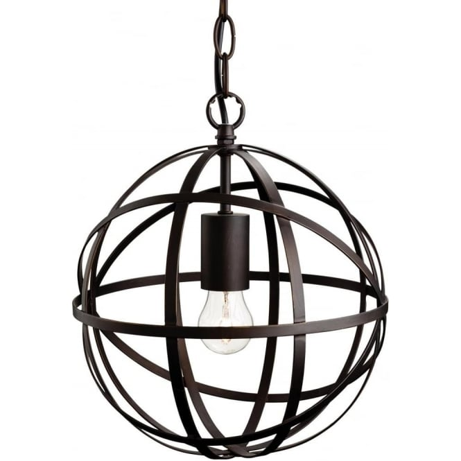 FirstLight 3436ABN Castle 1 Light Pendant Antique Brown