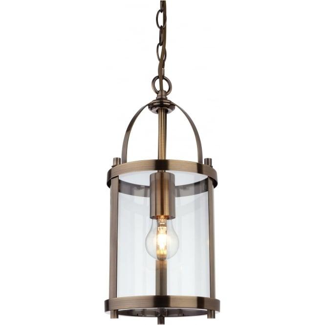 FirstLight 8300AB Imperial 1 Light Lantern Pendant Antique Brass