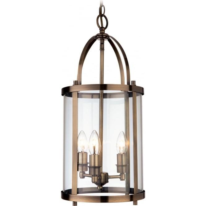 FirstLight 8301AB Imperial 3 Light Lantern Pendant Antique Brass