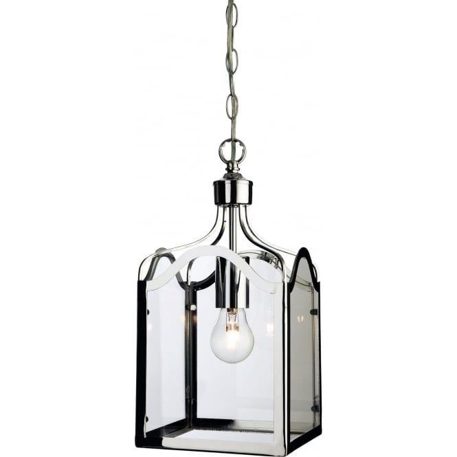 FirstLight 8637CH Monarch 1 Light Lantern Pendant Polished Chrome