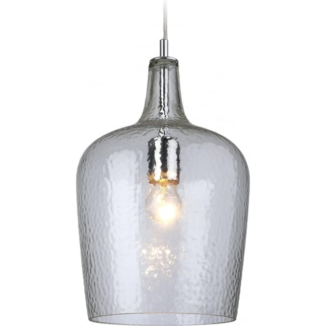 FirstLight 2301CL Glass 1 Light Pendant Aqua