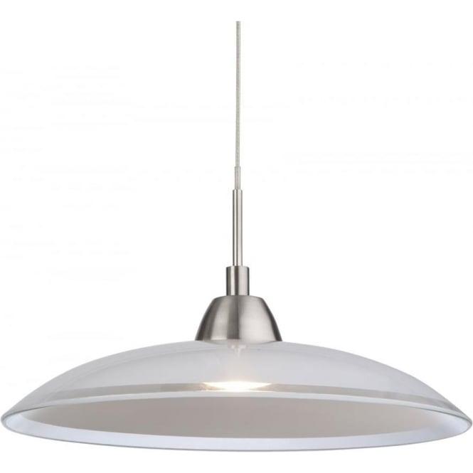 FirstLight 8376BS Nassau LED 1 Light Pendant Brushed Steel