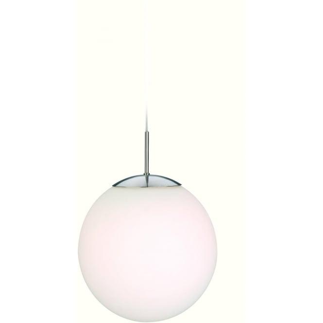 FirstLight 3303BS Globe 1 Light Pendant Brushed Steel