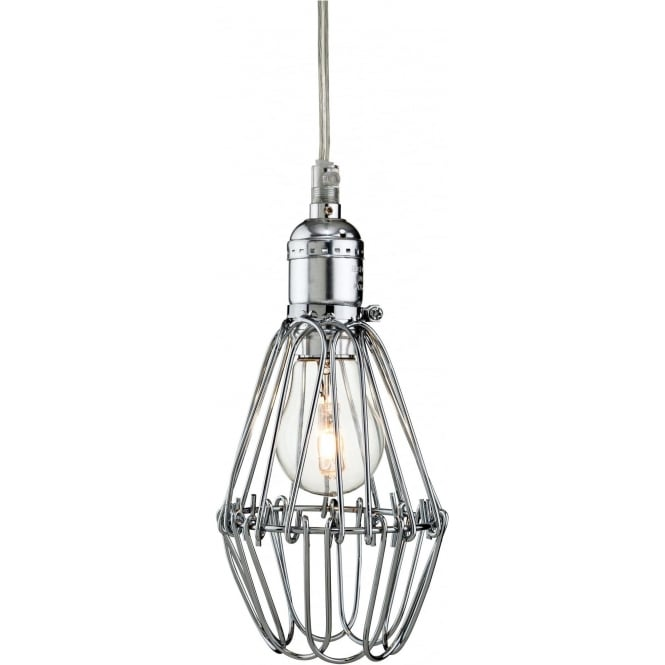 FirstLight 3446CH Arcade 1 Light Ceiling Pendant Polished Chrome