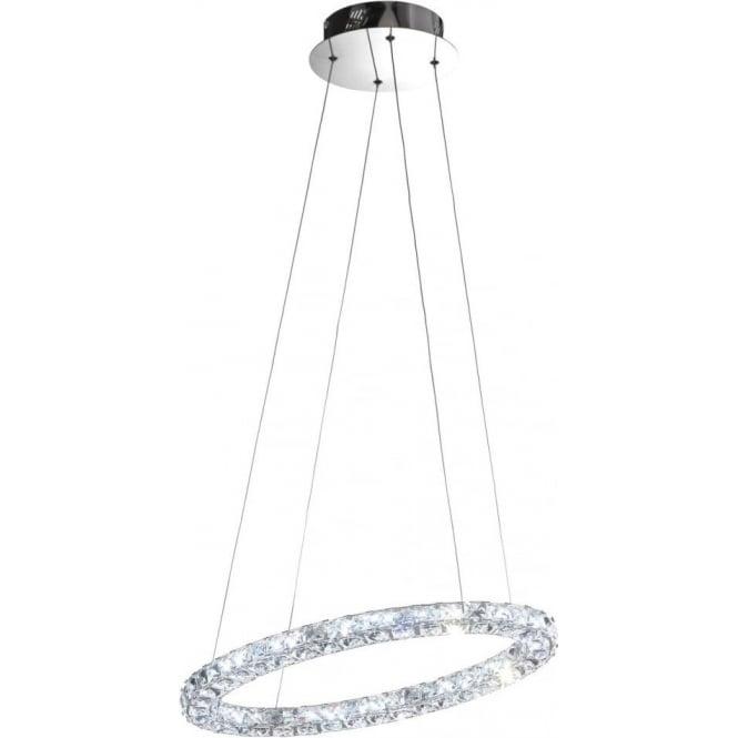 Eglo 39001 Toneria LED Crystal Ceiling Pendant Polished Chrome