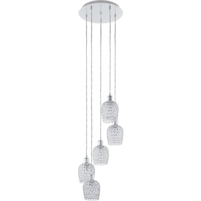 Eglo 94898 Bonares 5 Light Ceiling Light Polished Chrome