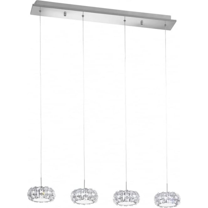 Eglo 39007 Corliano 4 Light LED Ceiling Pendant Polished Chrome