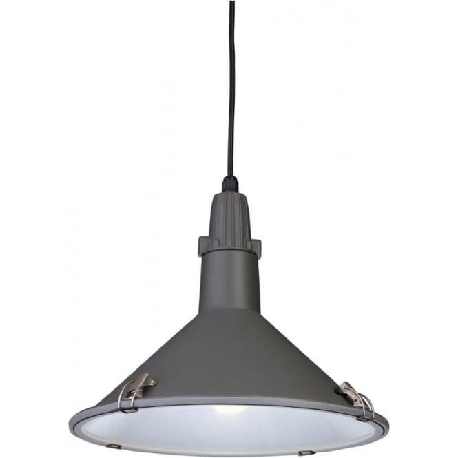 FirstLight 8313GR Eden 1 Light Low Energy Ceiling Pendant Grey