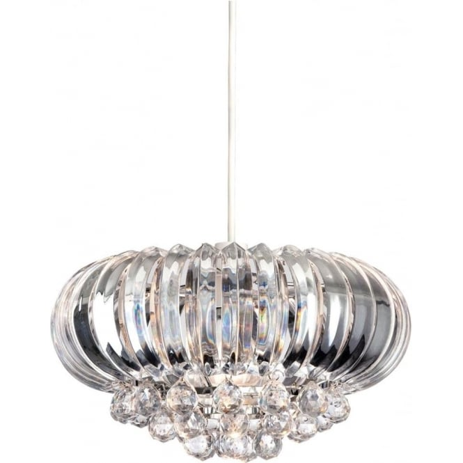 FirstLight 8633CH Crown Easy-Fit Non-Electrical Pendant Polished Chrome