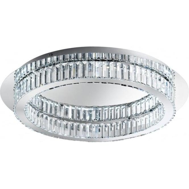 Eglo 39014 Corliano LED Flush Ceiling Light Polished Chrome