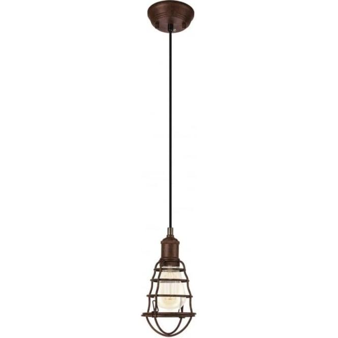 Eglo 49809 Port Seton 1 Light Ceiling Pendant Antique Brown