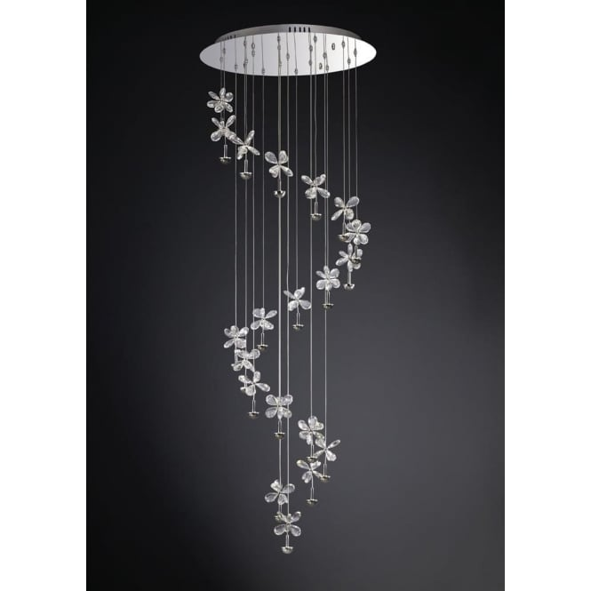 Diyas IL31144 Aviva 24 Light Ceiling Pendant Polished Chrome
