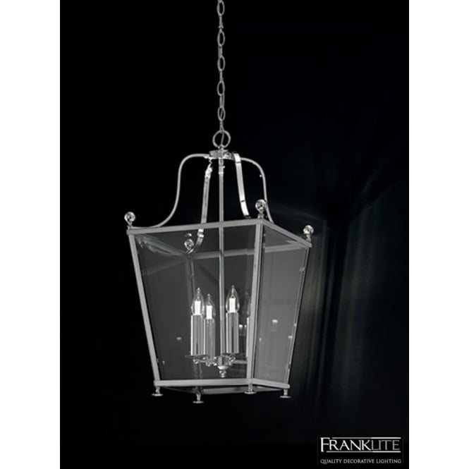 Franklite LA7003/4 Atrio 4 Light Ceiling Lantern Polished Chrome
