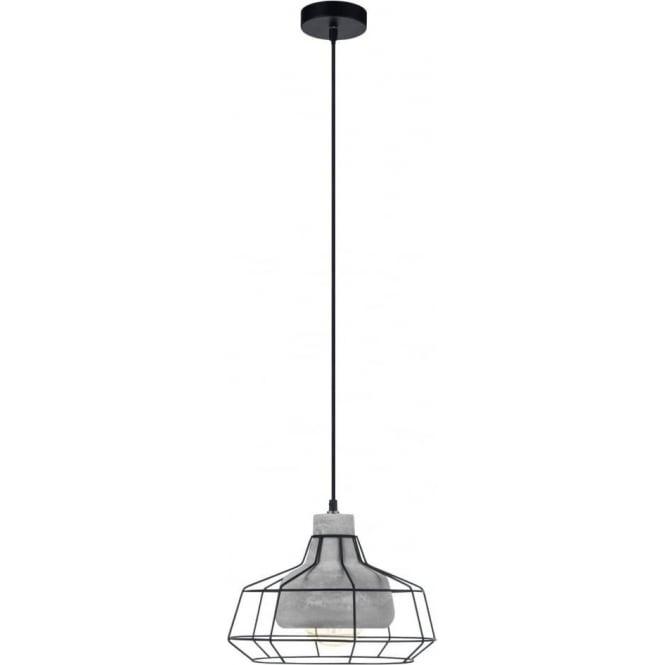Eglo 49781 Consett 1 Light Ceiling Pendant Concrete Black