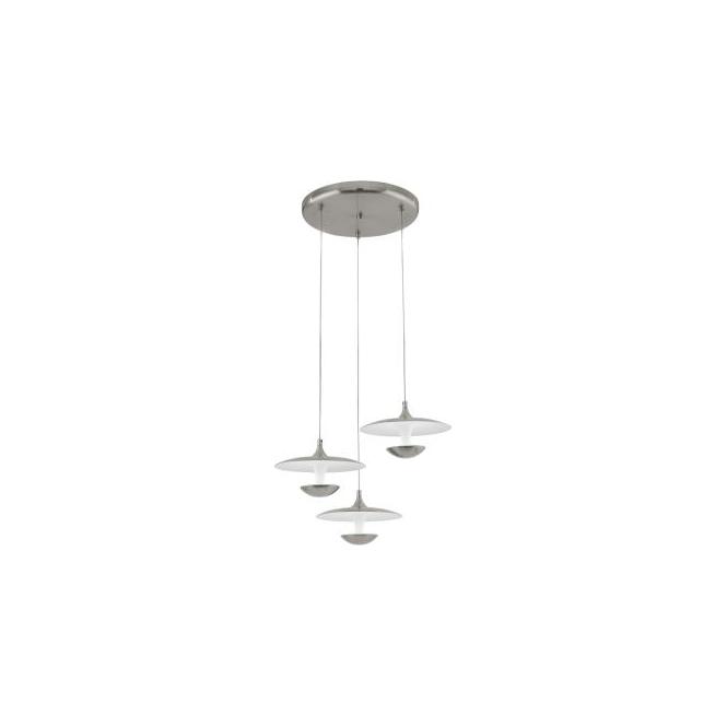 Eglo 95956 Toronja 3 Light Ceiling Light Matt Nickel