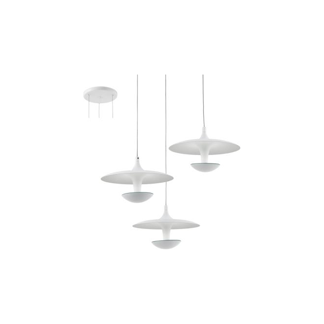 Eglo 95959 Toronja 3 Light Ceiling Light White