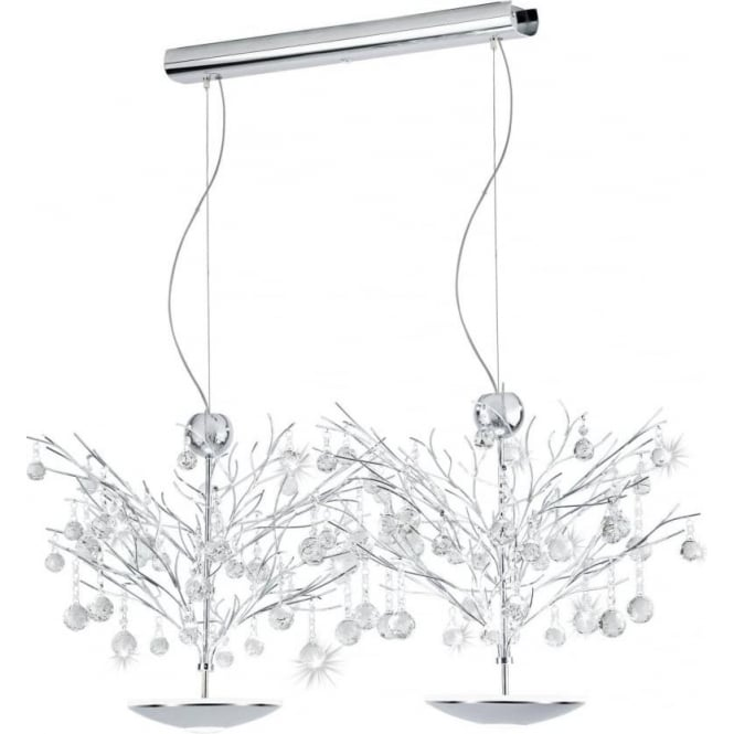 Eglo 39043 Sorges 2 x 16 Light LED Double Pendant Light Polished Chrome