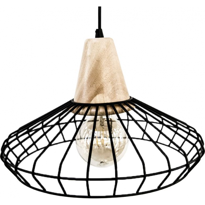 Eglo 49779 Norham 1 Light Ceiling Pendant Black