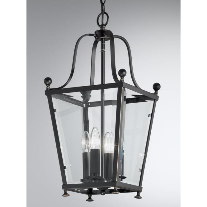 Franklite LA7004/4 Atrio 4 Light Ceiling Lantern Antique Bronze