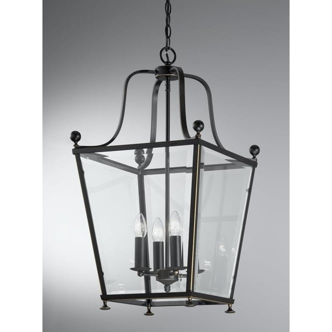 Franklite LA7005/4 Atrio 4 Light Ceiling Lantern Antique Bronze
