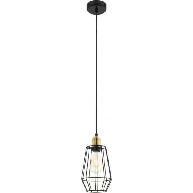 Eglo 49791 Denham 1 Light Ceiling Pendant Black