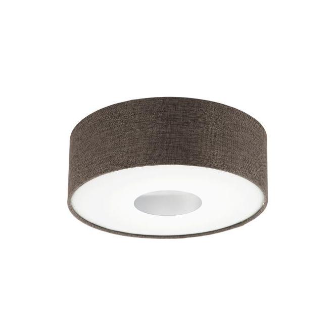 Eglo 95336 Romao 2 15 Light Flushed Ceiling Light Chrome/Satin Nickel